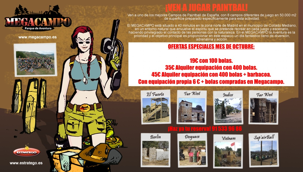 Megaoferta octubre noticias megacampo for Megacampo paintball madrid oficinas madrid