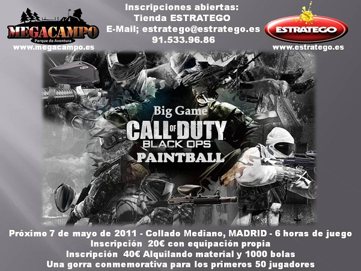 2011 marzo 07 noticias megacampo for Megacampo paintball madrid oficinas madrid